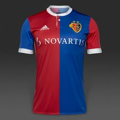 View and buy the adidas FC Basel Home Shirt - Bold Blue/Bold Red/White adidas at Pro:Direct SOCCER. Football Shirts, Football Team, Red And White Adidas, Fc Basel, Football Equipment, Team Wear, Polo Ralph Lauren, Soccer, Kit