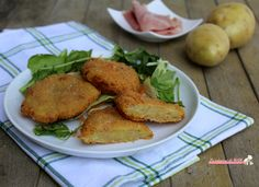 Cotolette di patate e prosciutto cotto
