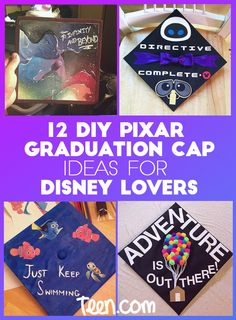 12 DIY Pixar-Inspired Graduation Cap Ideas All Disney Fans Must Copy