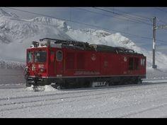 [HD] Berninapass im Winterkleid--- Schneeräumung gestern und heute