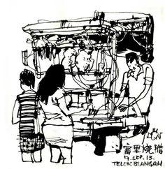 Urban Sketchers: Sketching my neighborhood...