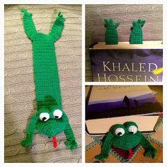 bogmærke Diy Crochet Amigurumi, Knit Crochet, Crochet Hot Pads, Easy Crochet Projects, Book Markers, Crochet Bookmarks, Bog, Doll Toys, Handicraft
