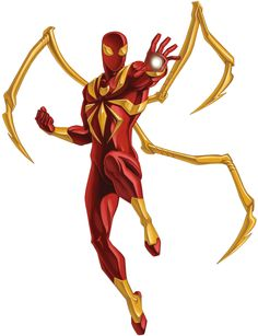 The Iron Spider Armor is an armor created by Tony Stark for Spider-Man during the Civil War event. First appeared in Amazing Spider-Man Marvel Comics, Heros Comics, Marvel Kids, Marvel Art, Marvel Heroes, Marvel Avengers, Ultimate Spider Man, Ultimate Spiderman Iron Spider, Spiderman Kunst