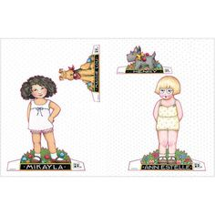 Now you can have hours of Paper Doll fun with Mary's most beloved character, Ann Estelle, her friend Mikayla, and their precious pups, Henry and Maggie Lou. All four dolls are printed on fully perfora