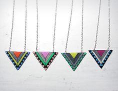 Geometric Necklace by MakeUnique.