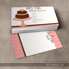 Pretty Cake Business Cards