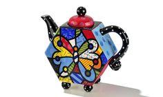 Romero Britto Ceramic Teapot - Butterfly