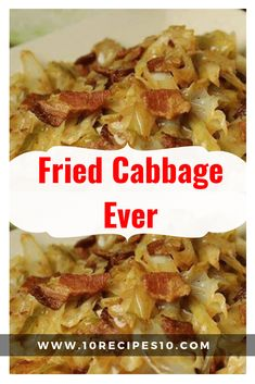 stir until the onion caramelizes; about 10 minutes. Immediately stir in the cabbage and continue to cook and stir another 10 Fried Cabbage With Sausage, Southern Fried Cabbage, Cabbage And Bacon, Roasted Cabbage, Cabbage Soup, Garlic Recipes, Onion Recipes, Veggie Recipes, Vegetables
