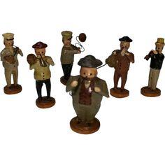 5009 Dollhouse Miniature 6 Piece Metal Drafting Set