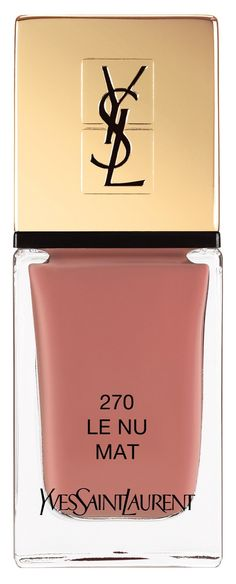 Dusty rose shade of Yves Saint Laurent nail lacquer.