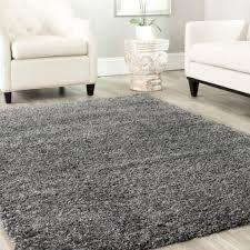 Shag 8x10 Area Rug In Grey Color