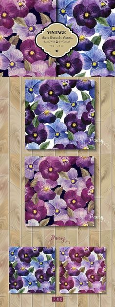 Seamless floral pattern with pansy. Patterns