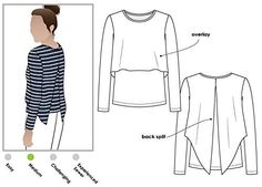 Amazon.com: Style Arc Sewing Pattern - Kylie Knit Top (Sizes 18-30) - Click for Other Sizes Available: Arts, Crafts & Sewing