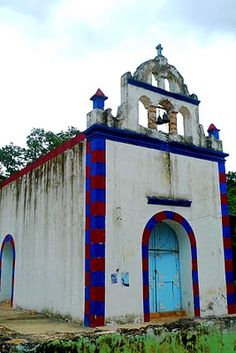 A gorgeous Mexican church, the #Milagros y Visionarios line is inspired by these colors, come find your favorite piece and watch for #red garnet, #lapis and more real gemstone strands www.litanyjewelry.com