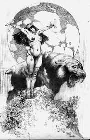 Resultado de imagen para frank frazetta ink drawings