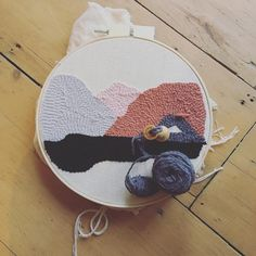 """Lela Harris (@knotandgather) on Instagram: """"Back working on my latest #punchneedle piece this morning. I found the Ultra Punch way to…"""""""