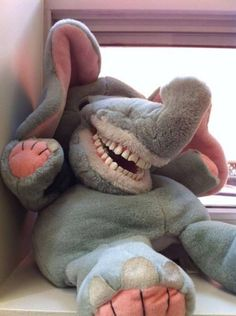 Just Me, Your Smiley Elephant! Perhaps you're into creepy toys like this. Perhaps not? Pop Toyshop! www.PopToyshop.com