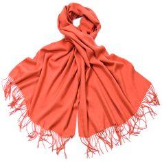 Etole orange pastel en laine - Etole/Etole laine - Mes Echarpes