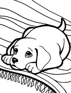 Dibujo para colorear de perros (nº 4)