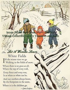 What a shame she put a mark over the image. This would of been a lovely printable to frame in winter January Poem, December, Nursery Rhythm, Old Nursery Rhymes, Kids Poems, Mom Poems, Pomes, Christmas Poems, Rhymes For Kids