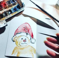 Advent Advent mein Malblock kaum was Andres kennt:irgendwie ist derzeit Bärzeit ...  .  Dieser Weihnachtsbär ist nicht mehr zu haben aber natürlich können Arbeiten nach Wunsch auch bei mir bestellt werden in den Shops wandklex.etsy.com und wandklex.dawanda.com.  Verwendetes Material : Schmincke Künstlerfarben Horadam auf @hahnemuehle Britannia 300g rauh Fotovorlage von @muddaren i Malerei und Produktfoto  @wandklex Kunstatelier  #wandklex #malerei #handgemalt #aquarell #hahnemühle #kunst…