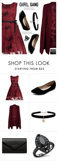 """""""Girl gang"""" by mimi712 ❤ liked on Polyvore featuring Ollio, WithChic, Betsey Johnson and Balenciaga"""