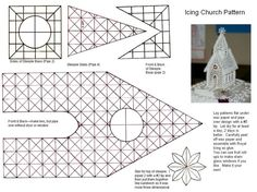 Icing Church Pattern This is the pattern for my Icing Church.you make with Royal Icing. I'll have to do in two parts. Here is page 1....