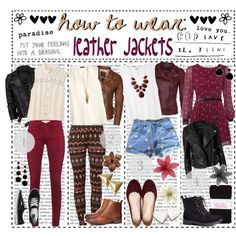 """how to wear: leather jackets"" by h0wtowear on Polyvore (:"
