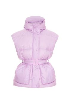 """Belted puffer jacket """"MICHLIN STYLE""""Features a funnel neck and a classic quilted construction Belted waist Oversized fit 70% Cotton, 27% Polyester, 3% Elastane"""
