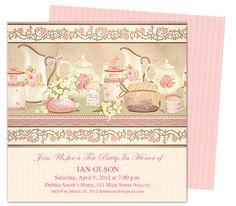 Tea Party : Teaparty Invitation Party Templates Printable DIY edit in ...
