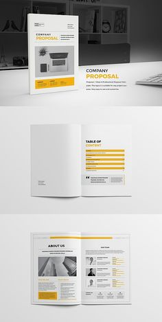 Proposal Professional, clean and modern 24 page Proposal Template. Project Proposal Template, Business Proposal Template, Proposal Templates, Business Card Design, Letterhead Template, Indesign Templates, Brochure Template, Adobe Indesign, Mo Design
