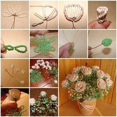 DIY Beautiful Beaded Rose Bouquet thumb