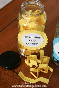 Summer activity jars (with free printables)