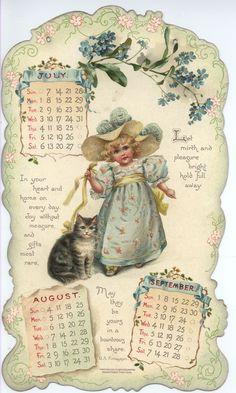 Full Sized Image: LITTLE LOVES CALENDAR FOR 1901 - TuckDB Ephemera