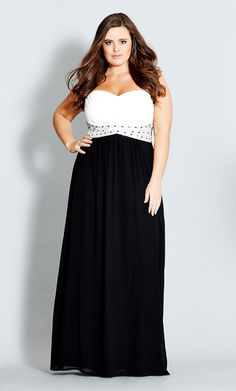City Chic - CONTRAST CAMILLA MAXI   - Women's Plus Size Fashion