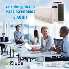 Trabalhar no calor não é nada motivador! Consulte em nosso site os melhores aparelhos para escritórios e escolha um para sua empresa! :: www.arclube.com.br