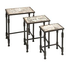 Imax Knoxlin Multicolor Nesting Tables, Set Of Three On SALE