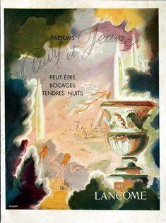 Publicité du parfum Lancôme Advertising Poster, Ads, Perfumes Vintage, Lancome Paris, Perfume Ad, Vintage Beauty, Posters, Illustration, Painting