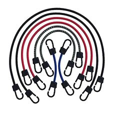 Bungee Cord, Assortment Set, Made in USA by Super Smithee , Heavy Duty Metal Hooks Coated in Tough Plastic to Prevent Scratching, Our Tie Downs have 100% Stretch and are Guaranteed to last the Test of Time . GREAT GIFT *** Check out this great image @ http://www.amazon.com/gp/product/B00QXVCUZS/tag=homeimprtip08-20&tu=130716064021