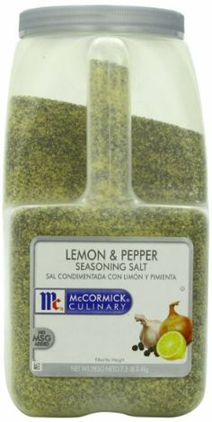 Mccormick Seasoning Salt, Lemon and Pepper, 7.5-Pound - http://spicegrinder.biz/mccormick-seasoning-salt-lemon-and-pepper-7-5-pound/