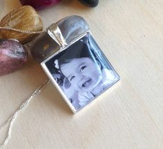 Custom Photo Necklace  Sterling Silver by BlueCornerCreasigns