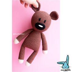 Mr.Bean's Teddy bear  amigurumi crochet pattern. от BlueRabbitLV