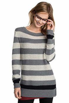 Esprit - Struktur-Pulli aus Baumwoll-Mix im Online Shop kaufen