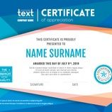 Modern certificate with blue polygonal background design template Free Vector Certificate Design Template, Borders For Paper, Graduation Invitations, Vector Photo, Company Names, Free Resume, Sample Resume, Vector Free, Ads
