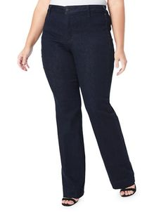 a3416c70c Style   Co Plus Size Tummy-Control Bootcut Yoga Pants