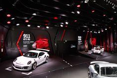 Exhibition Stall Design, Showroom Design, Exhibition Display, Exhibition Space, Exhibition Stands, Porsche Showroom, Garage Renovation, Interactive Installation, Car Shop