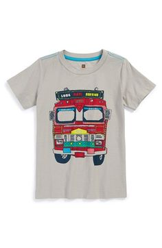 Tea Collection 'Loud Lorry' Graphic Cotton T-Shirt (Toddler Boys & Little Boys) available at #Nordstrom
