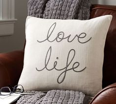 Love Life Pillow Cover $26.99