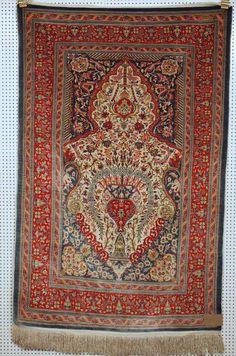 Hereke Seide, Zustand B, 140 x 91cm, Very fine silk !