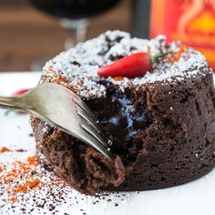 Patron Incendio Molten Lava Cake is rich and chocolaty with a spicy kick